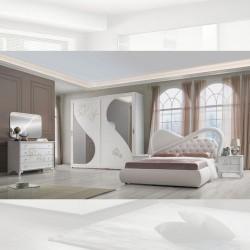 Camera da letto bianco larice Peonia