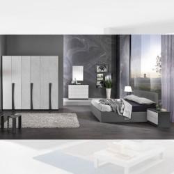 Camera da letto Kopet grigio cemento letto contenitore Napoli