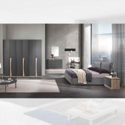 Camera da letto Kopet noce grigio letto contenitore Fiocco