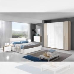 Camera da letto Kekova olmo bianco letto contenitore Ios