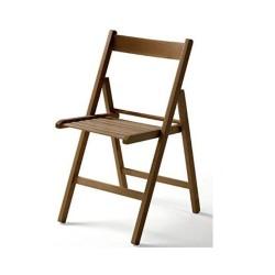 Sedia pieghevole in legno Penelope noce