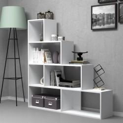 Libreria a scala 145x145 cm. Alis bianca