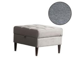 Pouf apribile in tessuto grigio Apartment