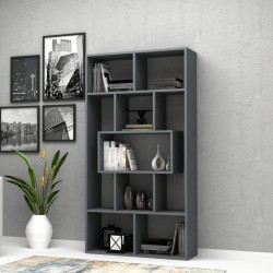 Libreria grigio cemento 90x30x170H cm. Face