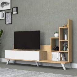Mobile porta Tv con libreria rovere 160 cm. Bingo