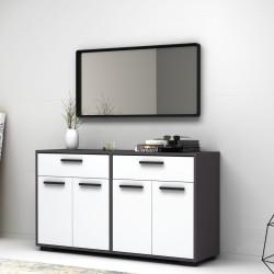 Multiuso 4 ante e 2 cassetti 140 cm grigio bianco Truva