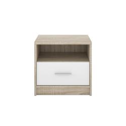 Comodino 1 cassetto 49,5 cm. rovere sonoma bianco Nepo