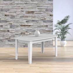 Tavolo ovale allungabile bianco frassinato Maribor