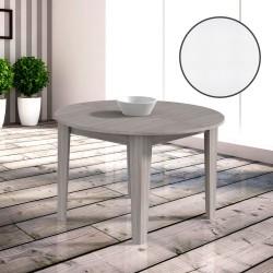 Tavolo rotondo allungabile bianco frassinato Maribor