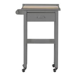 Carrello da cucina con cassetto e ruote grigio shabby Margot 60x42x90