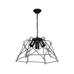 Lampada a sospensione luci in metallo nero asimmetrico Tena MDL3854