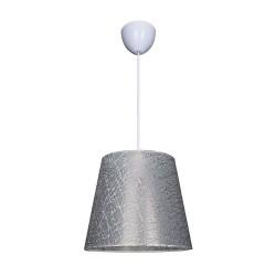 Lampada a sospensione in tessuto grigio Conic ASZ0777