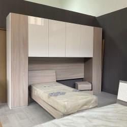 Cameretta ponte doppio letto singolo Dream olmo bianco 320x240