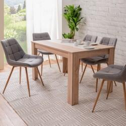 Tavolo con pannello centrale Niklas rovere