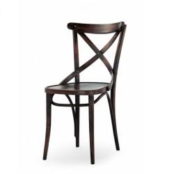 Sedia in faggio Heritage nero seduta massello