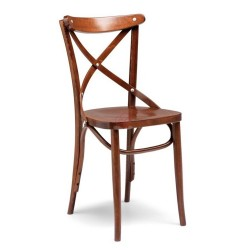 Sedia in faggio Heritage cognac seduta massello