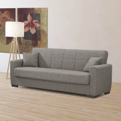 Duna grigio divano letto con contenitore