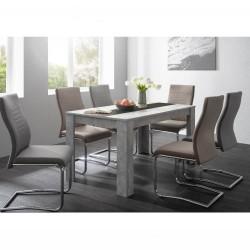 Tavolo con pannello centrale Niklas cemento