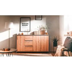 Madia 160x40x88H quercia antracite Denver 3