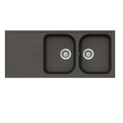 Lavello 116x50 2 vasche  reversibile Asphalt