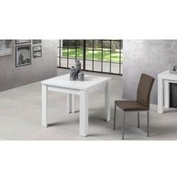 Tavolo raddoppiabile 100x100 cm. Maribor bianco larice