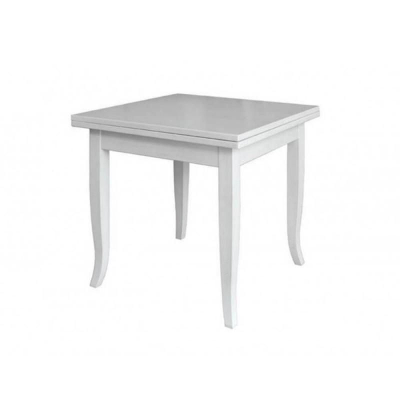 Tavolo Quadrato Allungabile Bianco 90x90 Verona