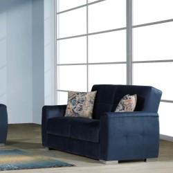 Divano letto con contenitore 2 posti Florance blu