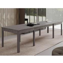 Tavolo 160x90 allungabile a 320 cm Super4 cemento