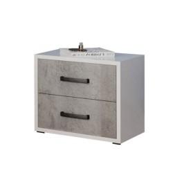 Comodino 2 cassetti 52x36x43H cemento