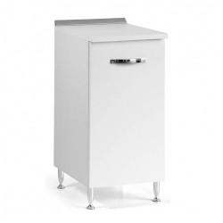 Base cucina con anta 30x50x85H bianco frassinato