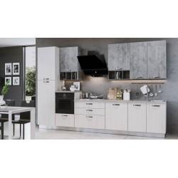 Cucina Athena lusso 360 cm bianco perla cemento