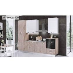 Cucina 300 cm. Artemide lusso con elettrodomestici