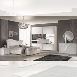 Camera da letto completa Mabel bianco larice