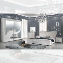 Camera da letto completa bianca Briel