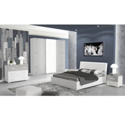 Camera da letto Rachele bianco cemento