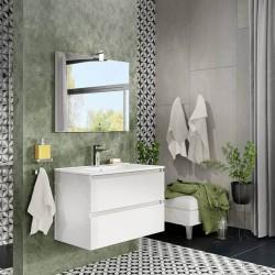 Mobile bagno bianco lucido con specchio Trasimeno