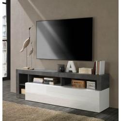 Porta TV Mogol bianco lucido ossido 184x42x58H