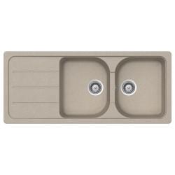 Lavello 2 vasche Granitovero1162v gocciolatoio avena Samet