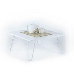 Tavolino da salotto rettangolare bianco Ilia 60x60 MT190403