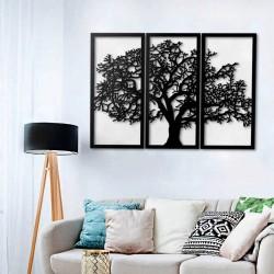 Cornice decorativa albero della vita nero 125x88 cm