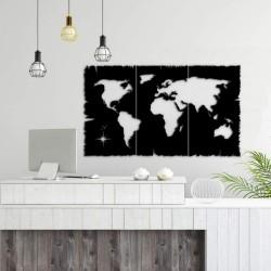 Cornice decorativa mondo nero 125x73 cm MT1924241