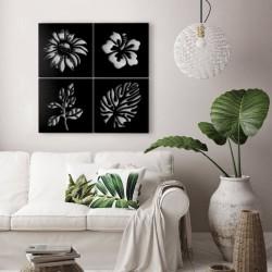 Cornice decorativa natura nero 40x40 cm MT1924181