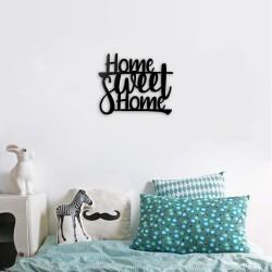 Scritta decorativa home sweet home nero 40x33 cm