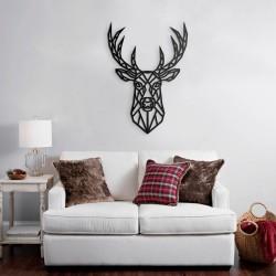 Cornice decorativa cervo nero 62x87 cm