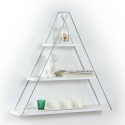 Mensola triangolare 3 ripiani Moset bianco