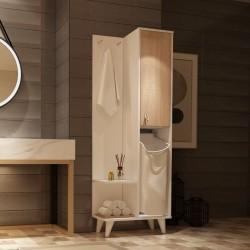 Mobile bagno bianco rovere 64x30x178 Kuban