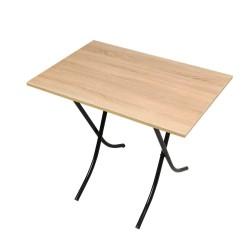 Tavolo pieghevole 70x110 rovere sonoma e gambe nero 10152son