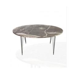 Tavolino ovale da salotto marmo grigio Terek p473
