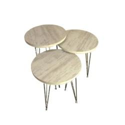 Tavolini da caffè bianco consumato Terek p184