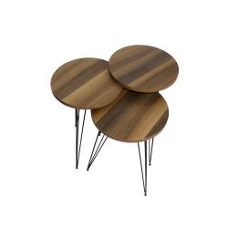 Tavolini da caffè noce Terek p183